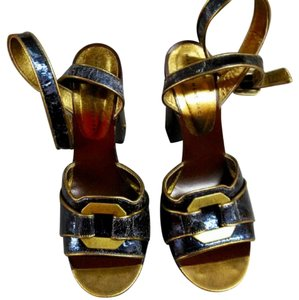 Marc by Marc Jacobs blue gold Sandals