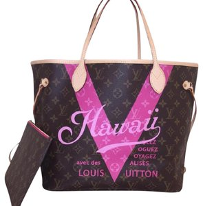 Louis Vuitton Neverfull Hawaii Neverfull Mm Hawaii Neverfull Tote in Pivoine