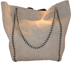 Nordstrom Signature Boho Faux Leather Chain Classic Tote in Taupe