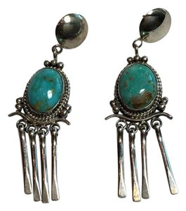 Other Turquoise Sterling Silver Tassel Earrings