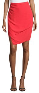 J Brand Asymmetric Skirt Red