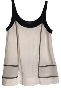 Rag & Bone And White Black Silk Sleeveless Top Black White
