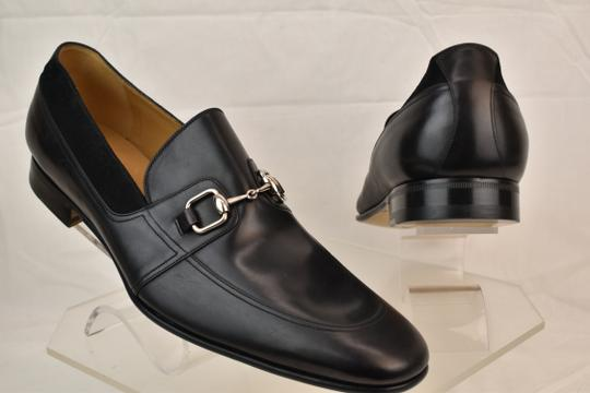 Gucci Black Horsebit Betis Glamour Leather Suede Silver Loafers 14.5 368444 Shoes Image 3