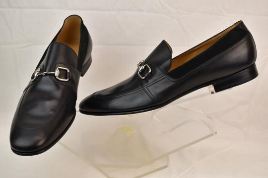 Gucci Black Horsebit Betis Glamour Leather Suede Silver Loafers 14.5 368444 Shoes Image 4