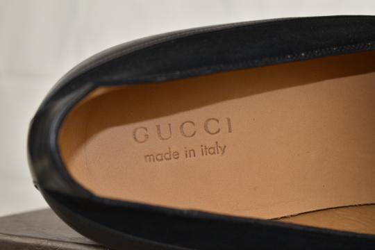 Gucci Black Horsebit Betis Glamour Leather Suede Silver Loafers 14.5 368444 Shoes Image 7