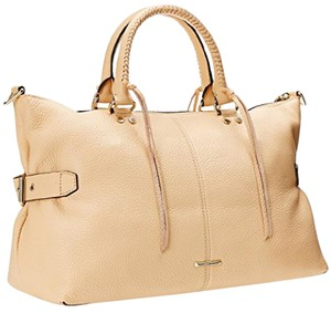 Rebecca Minkoff Moto Pebbled-leather Tote in Biscuit