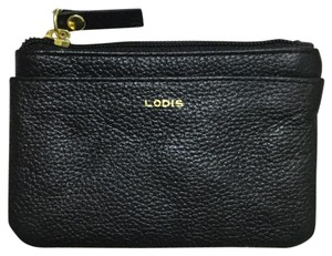 Lodis Pebbled Leather RFID Card Case Wallet Pouch Black