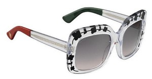 Gucci GUCCI SQUARE OVERSIZED CRYSTAL CLEAR SUNGLASSES GG 3863/S