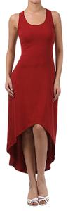 Red Maxi Dress by Pretty Young Thing Hi-low Maxi Tank Asyymetrical Hem
