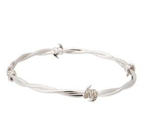 Stephen Webster Stephen Webster Forget Me Knot diamond Barb Wire bangle bracelet silve