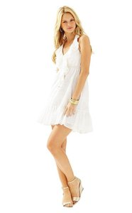 Lilly Pulitzer short dress Resort White Halter on Tradesy