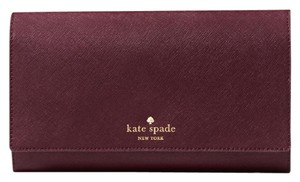 Kate Spade Wristlet in Mulled Wine