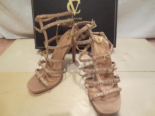 Vince Camuto High Heel Sexy Buckles Straps Buff Sandals