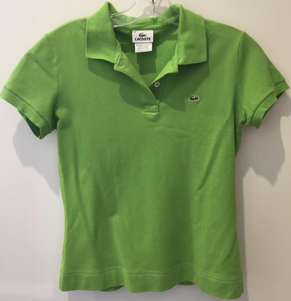 Lacoste cotton pique polo shirt classic fit t shirt lime for H m polo shirt womens