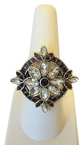 "Heidi Daus Heidi Daus ""French Twist"" Light Siam Red Crystal Ring size 7"