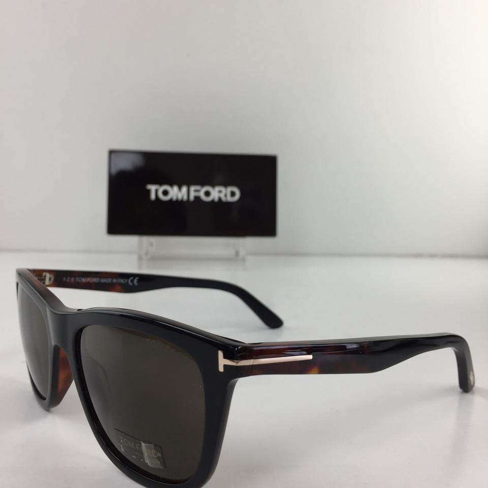 b3909c0a42cf2 Tom Ford Brand New TF 500 Andrew 05J Black Brown Plastic Sunglasses Image  6. 1234567