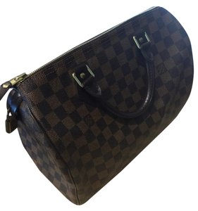 Louis Vuitton Satchel in Damier Ebene Canvas Pristine