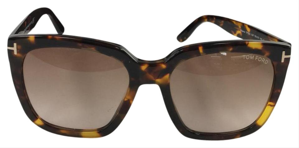 c6feae1dbfee8 Tom Ford Authentic TF 502 Amarra 52F Square Brown Gradient Plastic Style  Sunglasses Image 0 ...