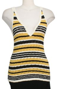 Free People Top Yellow Ivory Black