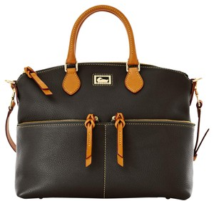 Dooney & Bourke Pocket Dillen Leather Satchel in Black