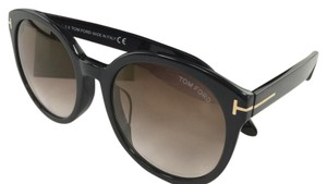 Tom Ford Authentic TF 503-F Philippe 01G Black Round Grey Gradient Sunglasses