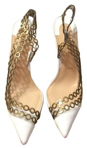 Christian Louboutin white and gold Formal