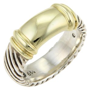 David Yurman #17215 Cable Band Ring in 14k Gold & Sterling Silver