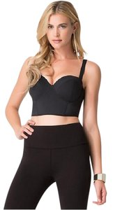 bebe Crop Strappy Sexy Top Black