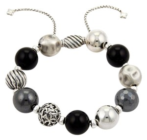 David Yurman 17641 - Elements Black Onyx & Hematite Sterling Silver Beads