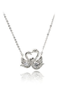 Ocean Fashion Swan love crystal silver necklace