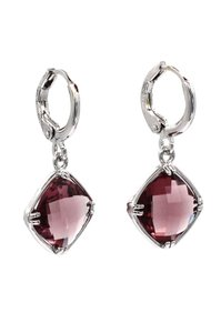 Ocean Fashion Square purple crystal pendant earrings