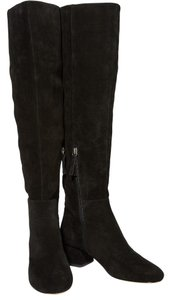 Halston Over The Knee Suede black Boots