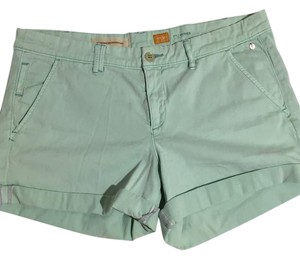 Anthropologie Cuffed Shorts green