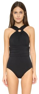 Michael Kors MICHAEL KORS DRAPED HI NECK SHIRRED MAILLOT ONE PIECE SWIMSUIT