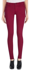J Brand Soft Skinny Pants Red