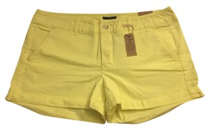 American Eagle Outfitters Midi Neon Cuffed Shorts Yellow