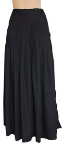 Outback Red Pleated Maxi Skirt BLACK