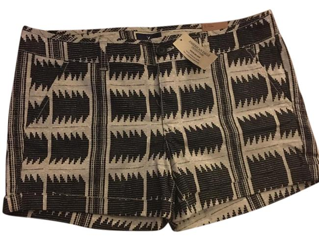 Item - Grey and Black Midi with Design Shorts Size 12 (L, 32, 33)