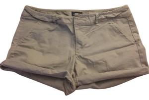 American Eagle Outfitters Midi Cuffed Shorts Grey