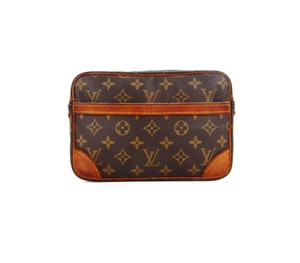 Louis Vuitton Trocadero 23 Monogram Canvas Leather Makeup Travel Dopp Bag