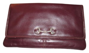 Other Xl Style Avant Garde Look Mint Vintage Equestrian Lots Of Compartments ox blood leather with chrome horse-bit accent Clutch