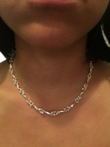 Macy's Macy's Silver and Imitation Pearl Necklace