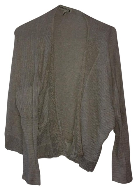 Item - Ivory With Lace Detail Cardigan Size 2 (XS)