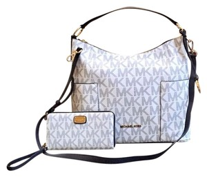 Michael Kors Mk Anita Crossbody Navy And White Shoulder Bag