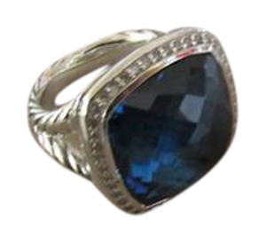 David Yurman David Yurman Albion Ring with hampton blue and Diamonds, 17mm