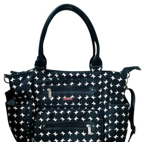 JJ COLE black & white Diaper Bag