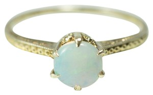 Other Antique Edwardian Round Opal 14k Gold Ring