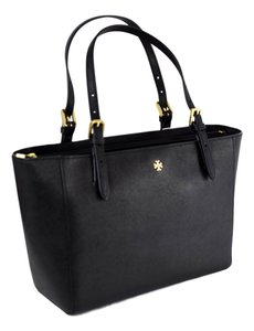 Tory Burch York Small Buckle York Tote in Black