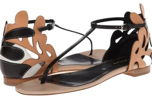 Sergio Rossi Black Tan Sandals