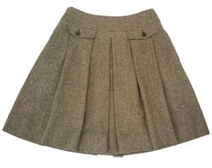 Pauw Amsterdam Wool Cashmere Pleated A-line Skirt